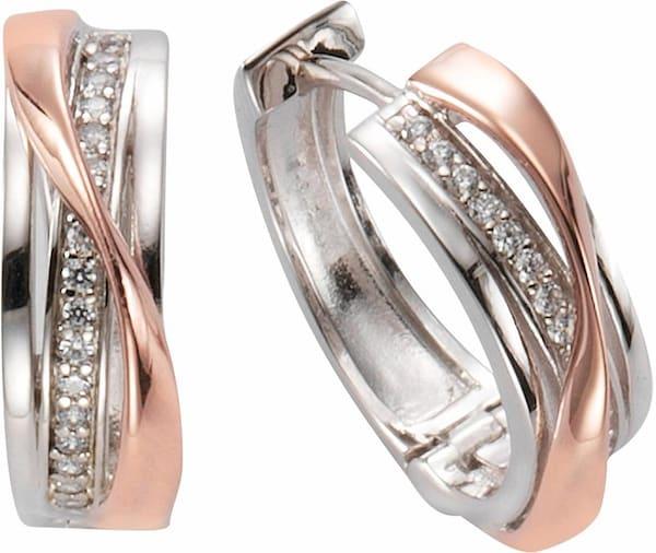 Ohrringe für Frauen - FIRETTI Paar Creolen rosegold silber  - Onlineshop ABOUT YOU