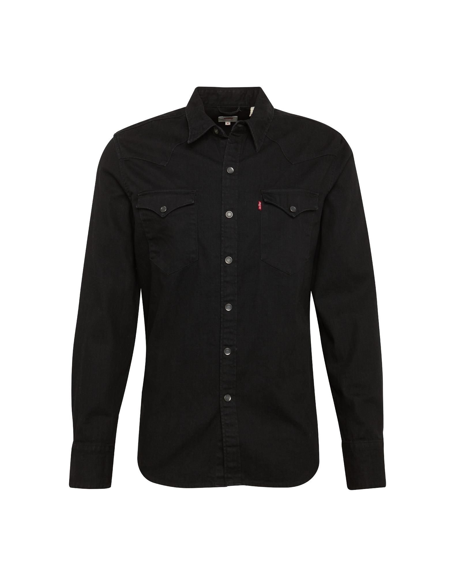 LEVIS Košile Barstow Western černá džínovina LEVI'S