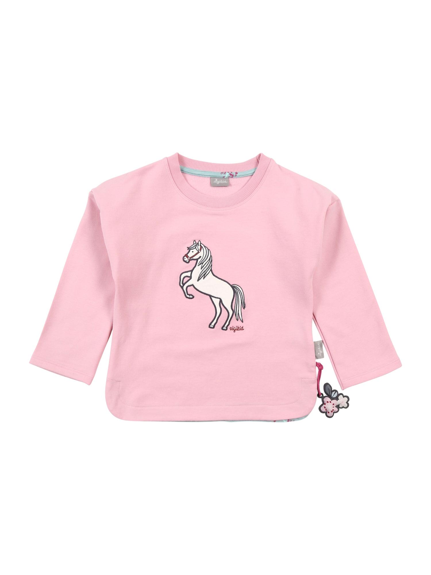 SIGIKID Megztinis be užsegimo rožinė / balta / juoda