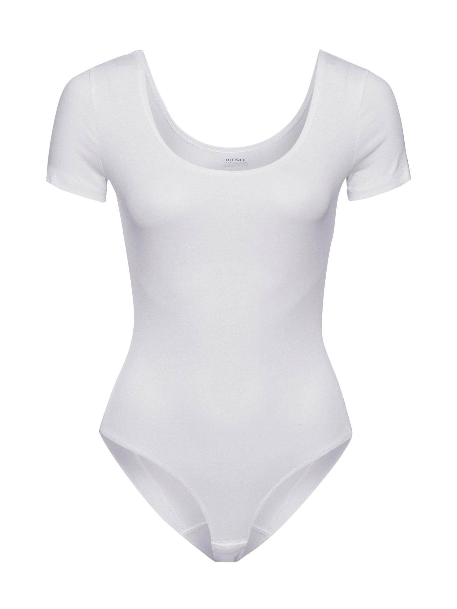 DIESEL Marškinėliai-glaustinukė balta