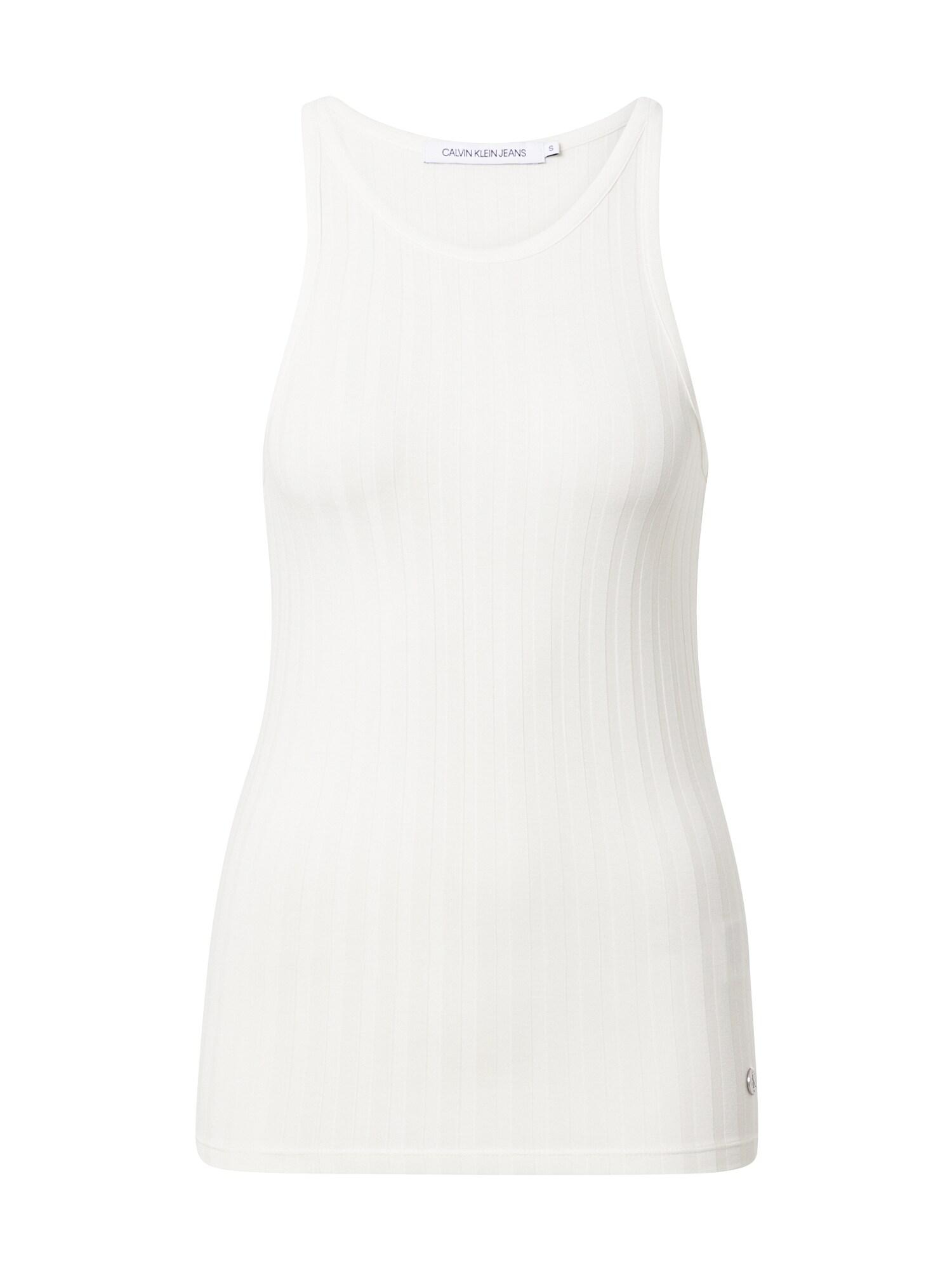 Calvin Klein Jeans Palaidinė be rankovių balta