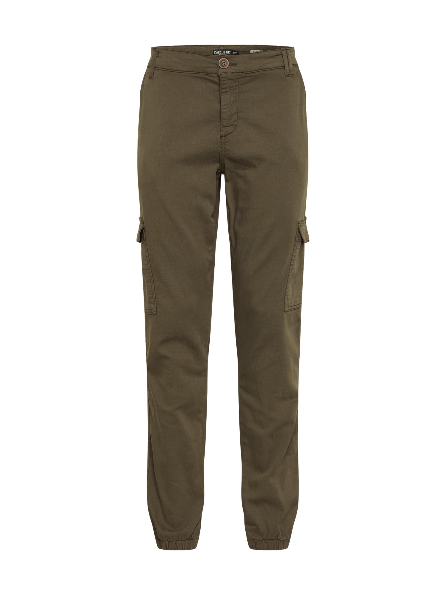 Cars Jeans Darbinio stiliaus kelnės 'JEREZ' rusvai žalia