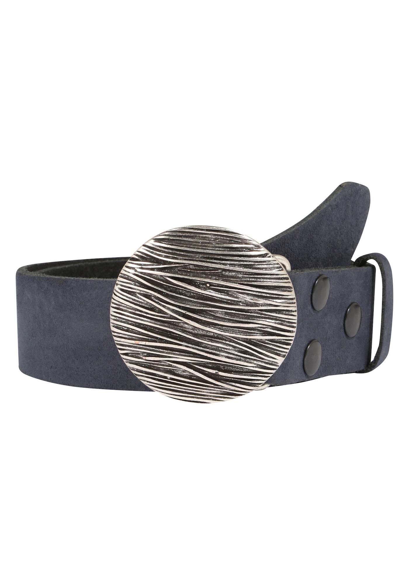 Herren RETTUNGSRING By Showroom 019° Echtledergürtel blau, blau,  rot, grau,  weiß | 04260643963285
