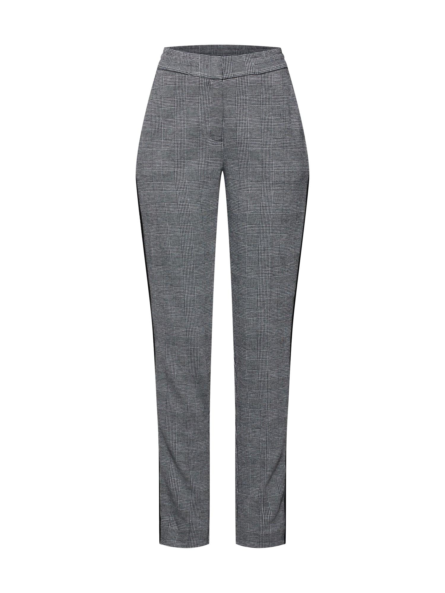 Kalhoty s puky stříbrně šedá černá MORE & MORE