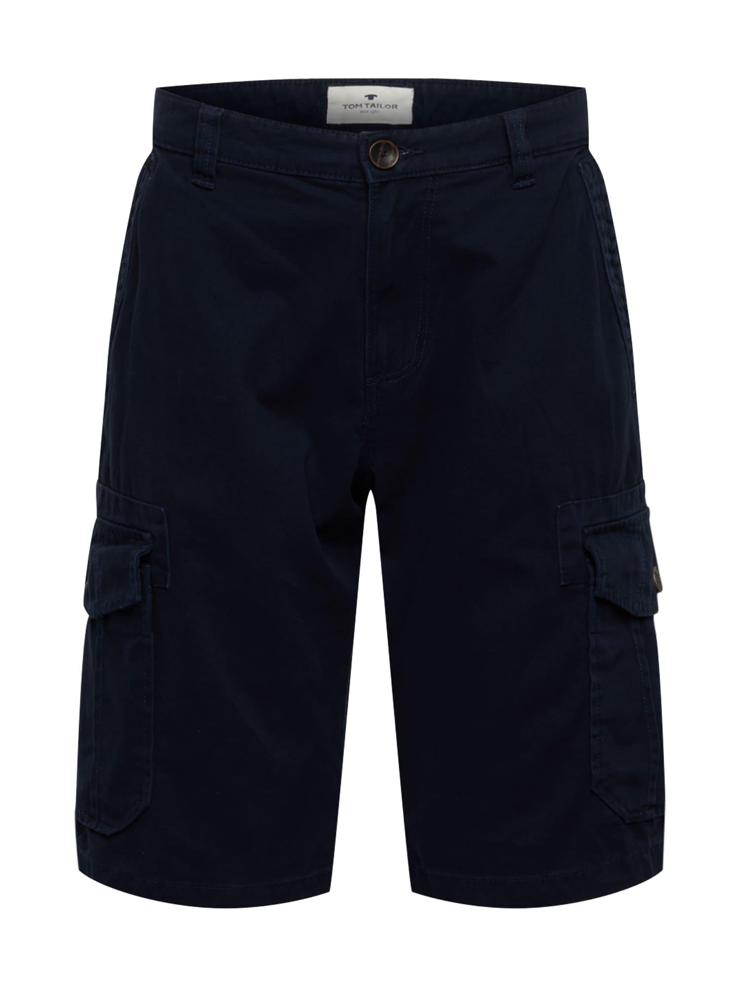 TOM TAILOR Laisvo stiliaus kelnės 'Morris' tamsiai mėlyna