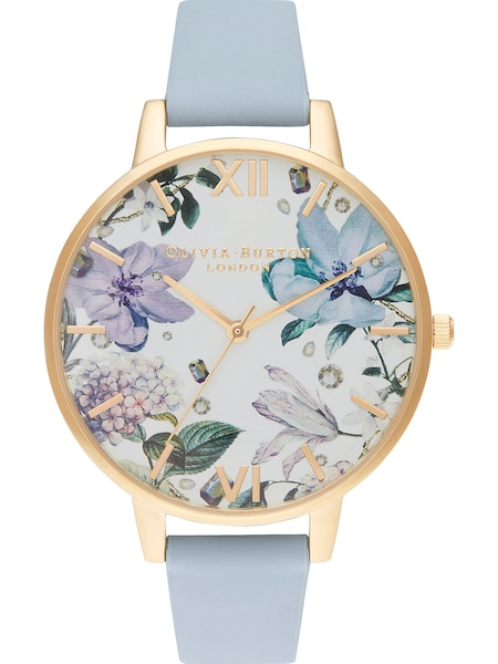 Uhren für Frauen - Uhr 'Bejewelled' › Olivia Burton › rauchblau gold  - Onlineshop ABOUT YOU