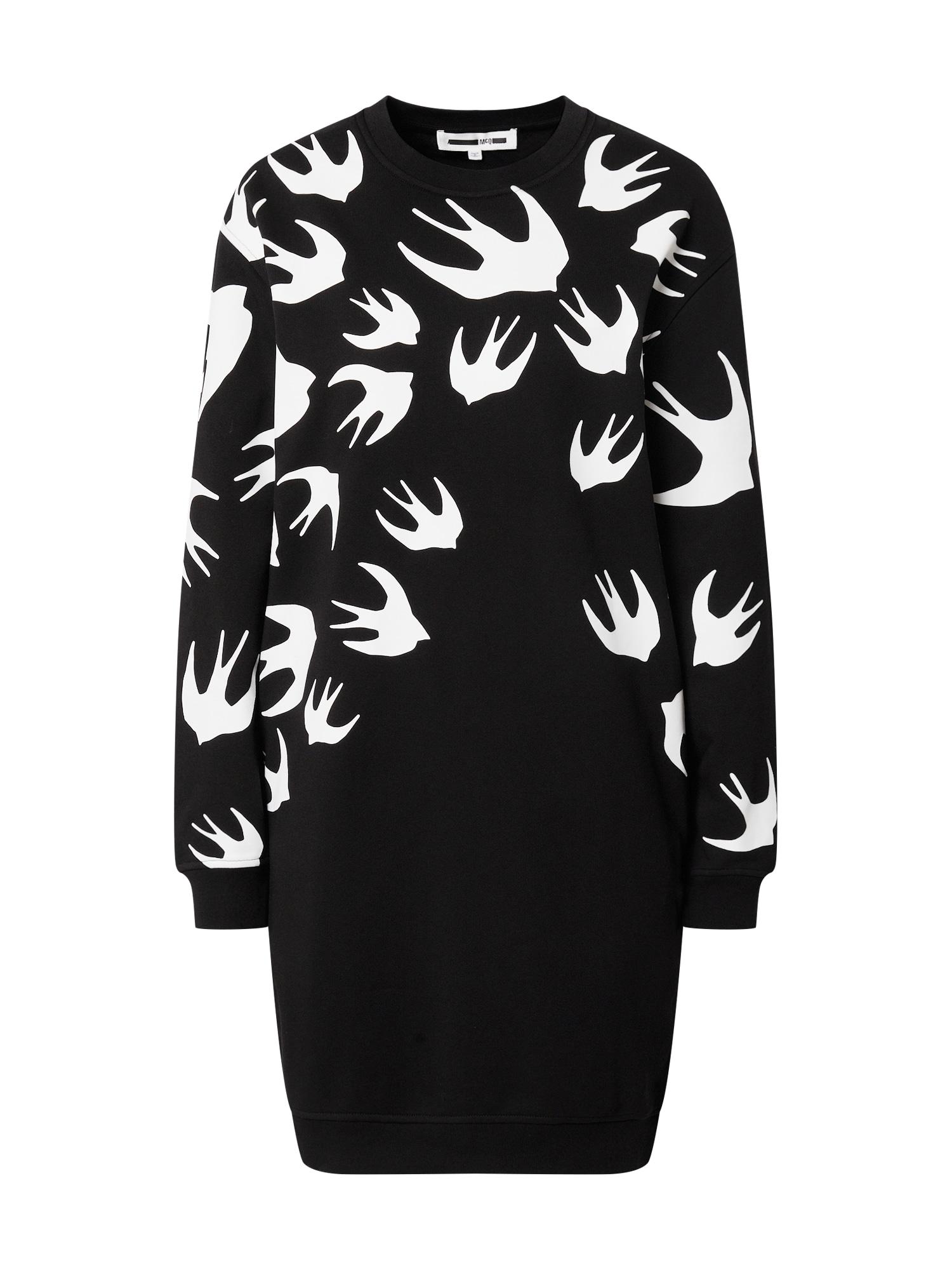 McQ Alexander McQueen Suknelė juoda / balta