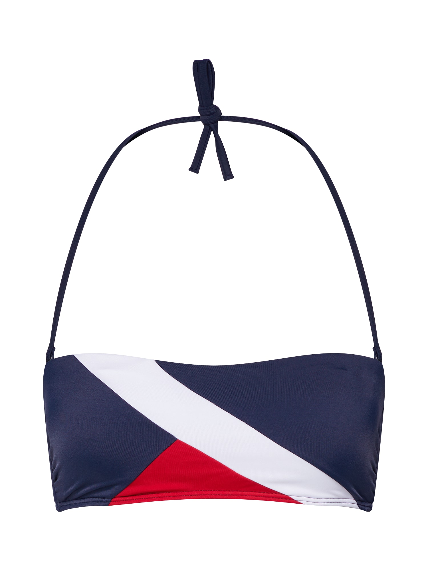 Horní díl plavek BANDEAU námořnická modř červená bílá Tommy Hilfiger Underwear