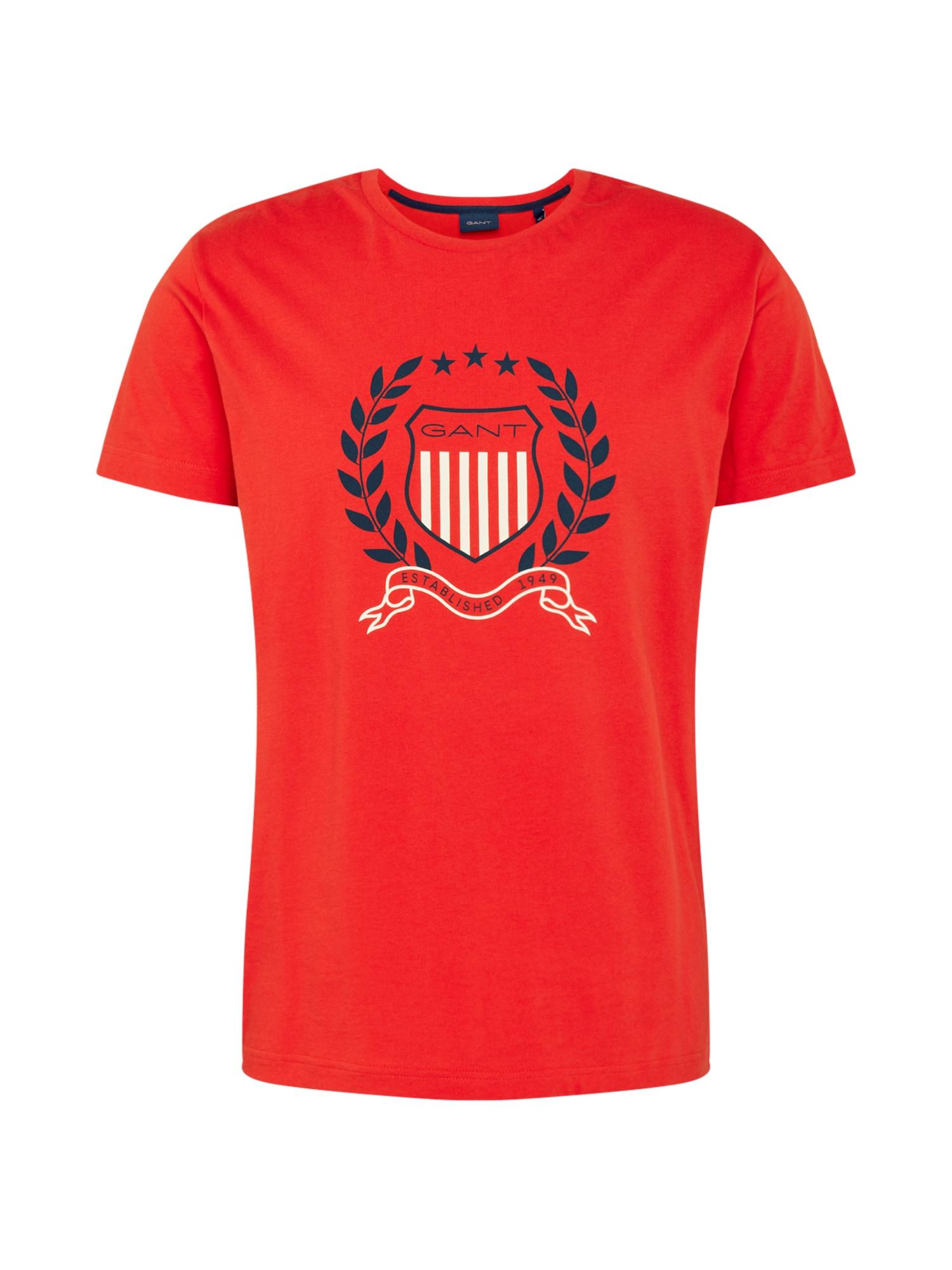 GANT Marškinėliai mėlyna / balta / raudona