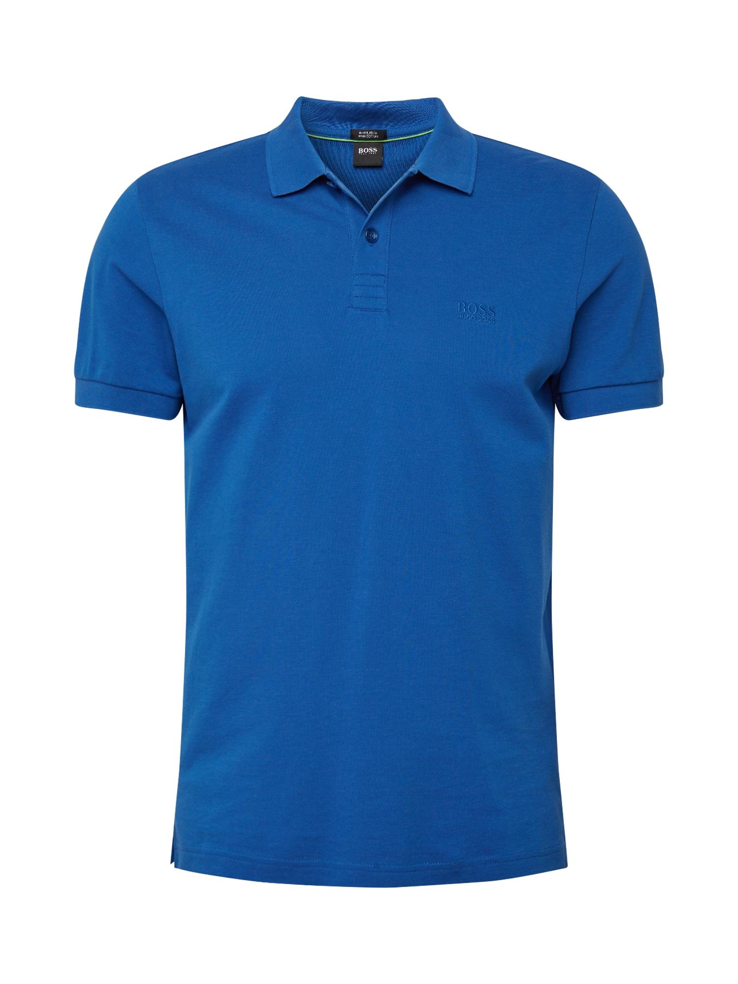 BOSS ATHLEISURE Marškinėliai mėlyna
