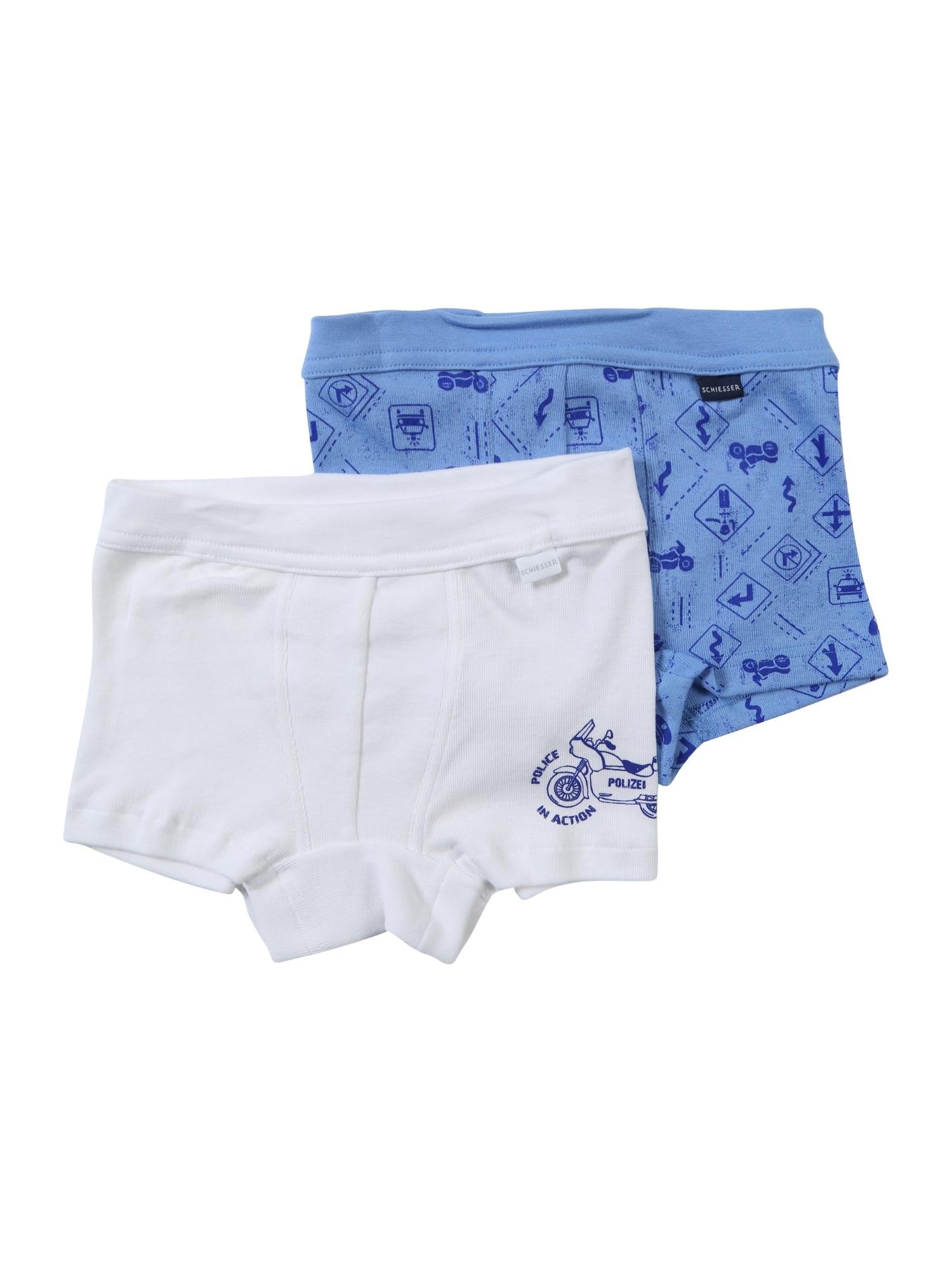 Spodní prádlo kouřově modrá bílá SCHIESSER