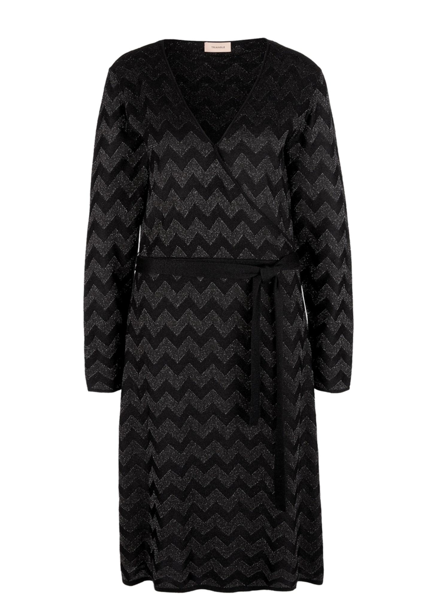 TRIANGLE Megzta suknelė antracito / juoda