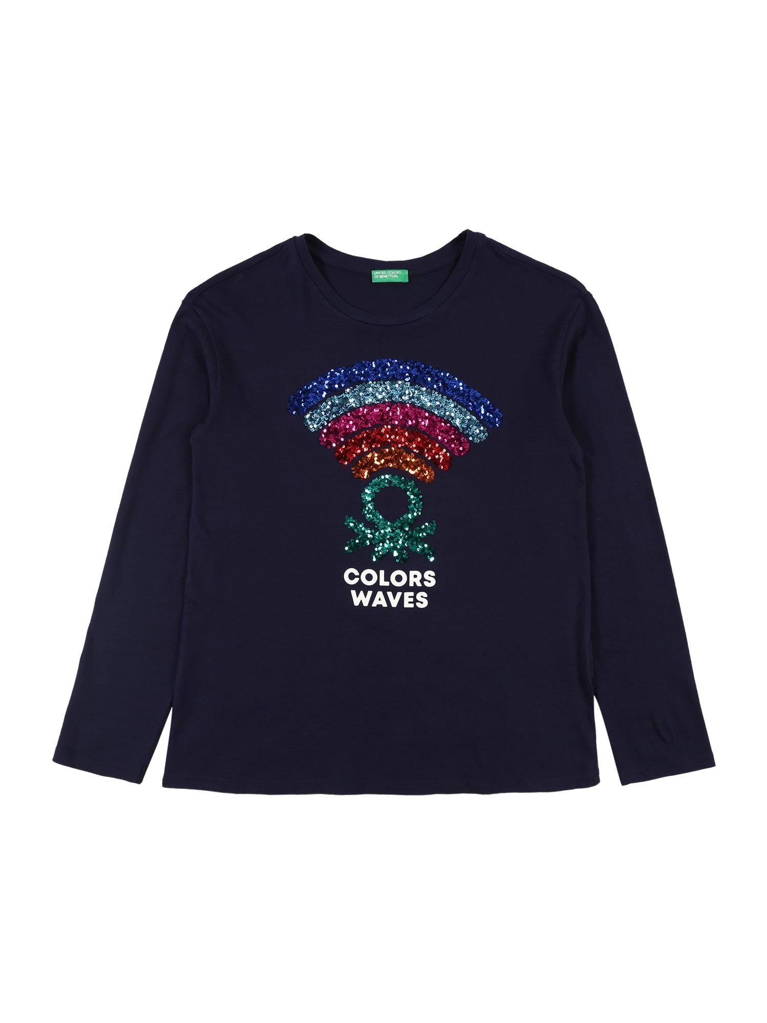 UNITED COLORS OF BENETTON Tričko  námořnická modř / bílá / pink / světlemodrá / červená