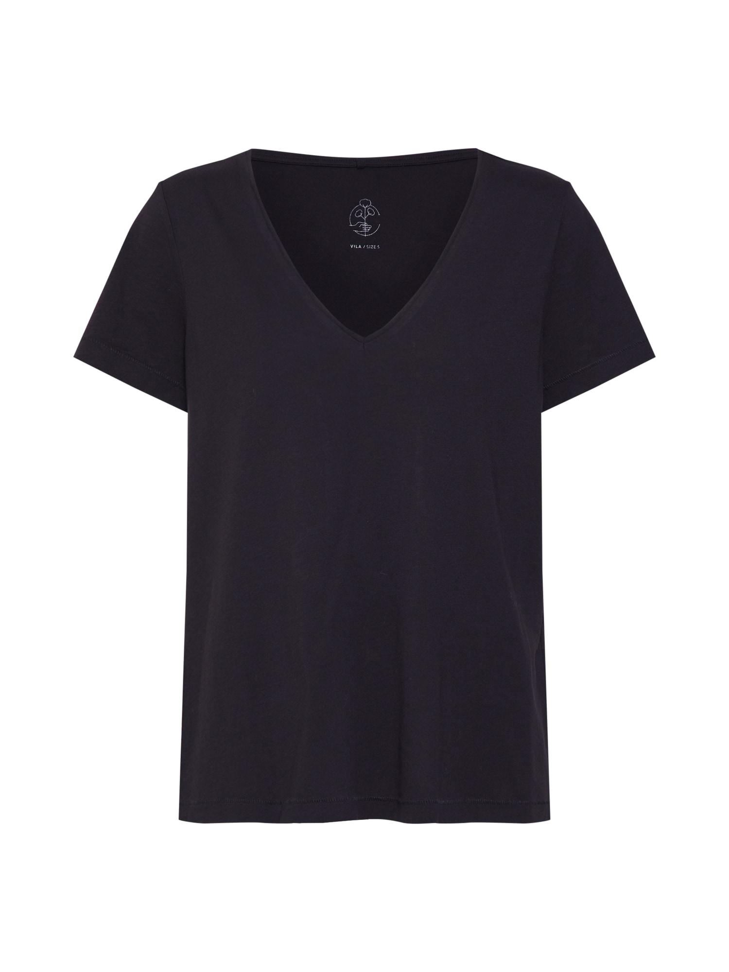 Tričko VISUSETTE černá VILA