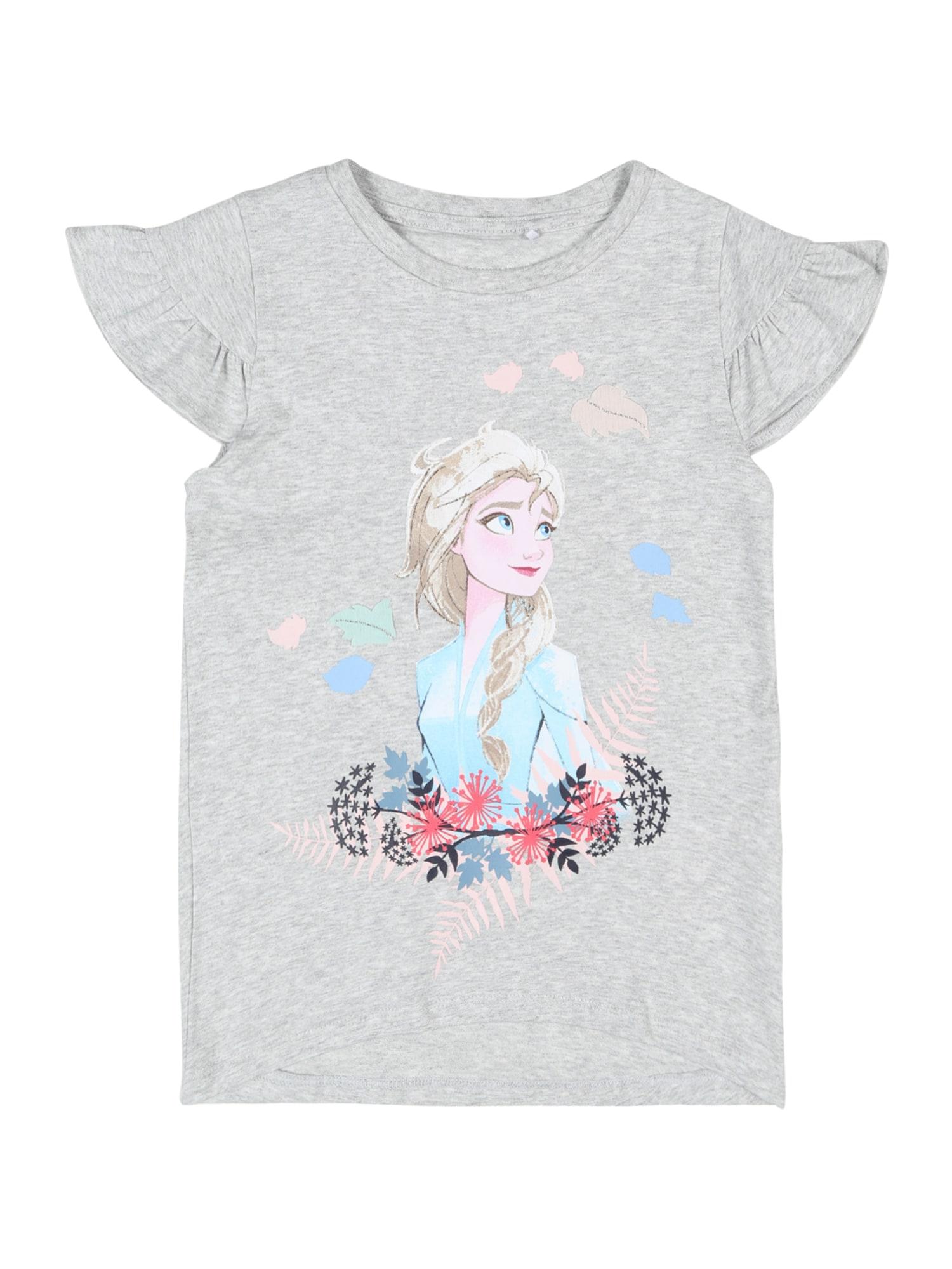 NAME IT Marškinėliai 'Frozen' šviesiai pilka