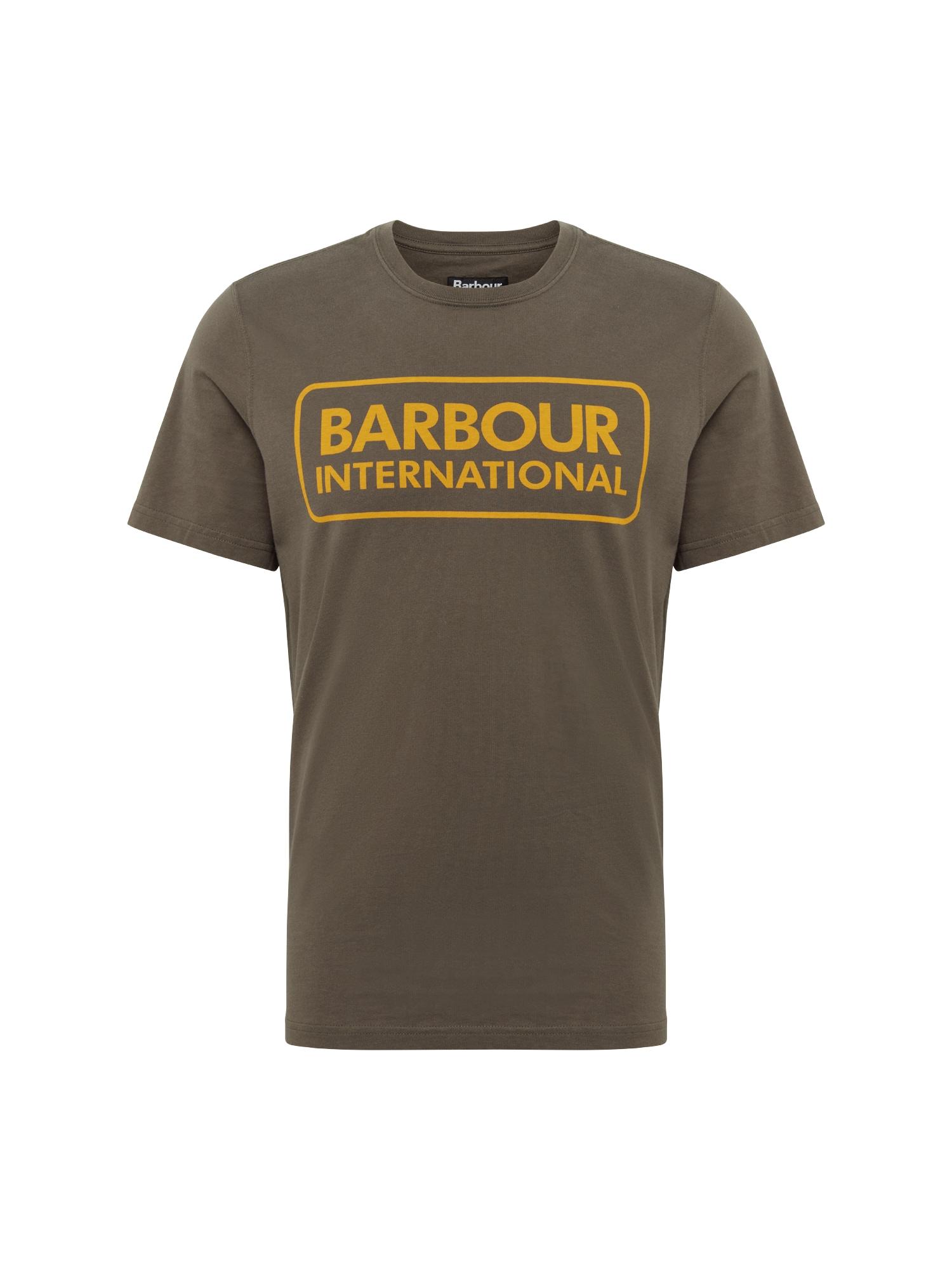 Tričko Essential Large Logo Tee olivová oranžová Barbour International