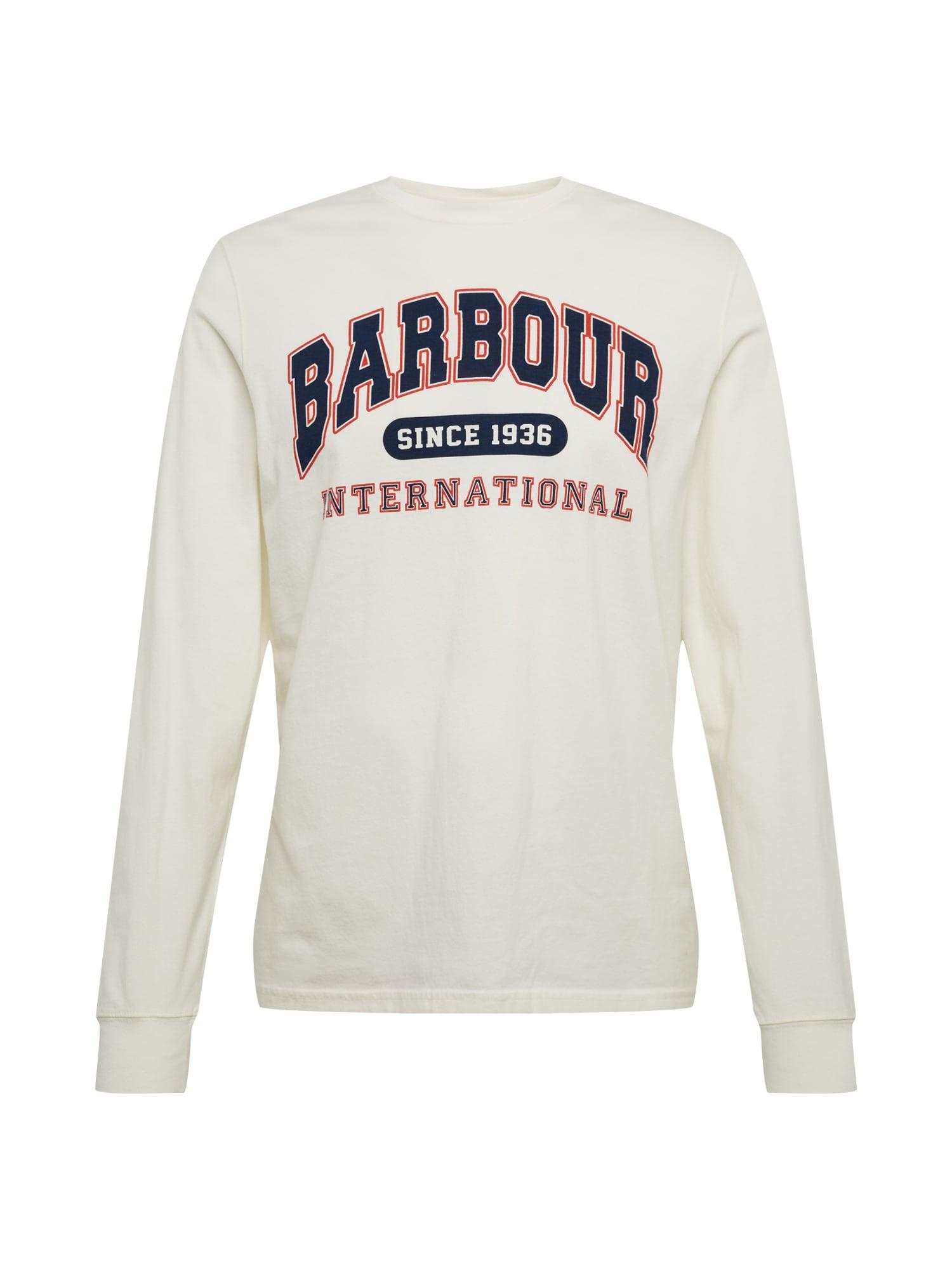 Barbour International Marškinėliai 'B.Intl Collegiate LS T' balta