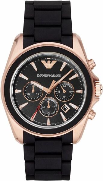 Uhren für Frauen - Emporio Armani Armbanduhr rosegold schwarz  - Onlineshop ABOUT YOU