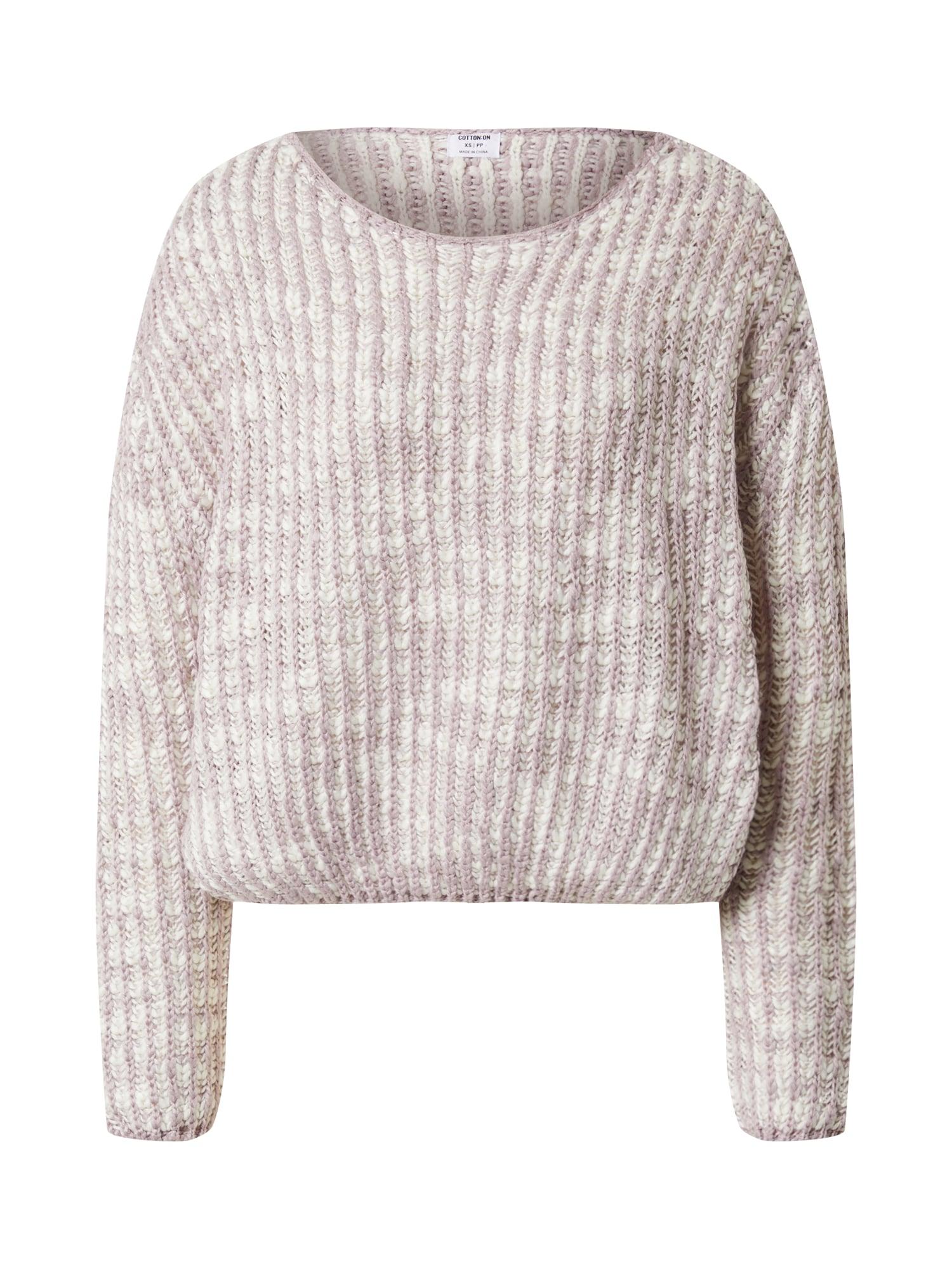 Cotton On Sveter 'THE LICORICE ALLSORT'  šedobiela / fialová