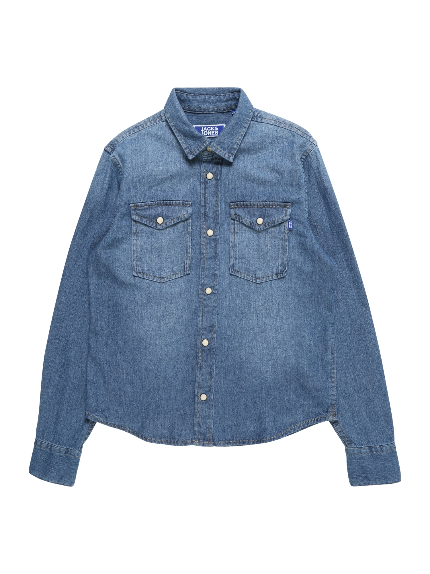 Jack & Jones Junior Dalykiniai marškiniai 'JJESHERIDAN' tamsiai (džinso) mėlyna