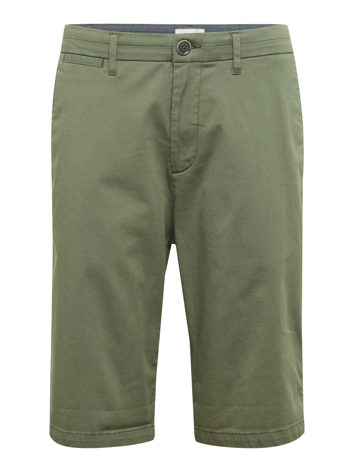 Chino kalhoty STRUC CHINO SHO khaki ESPRIT