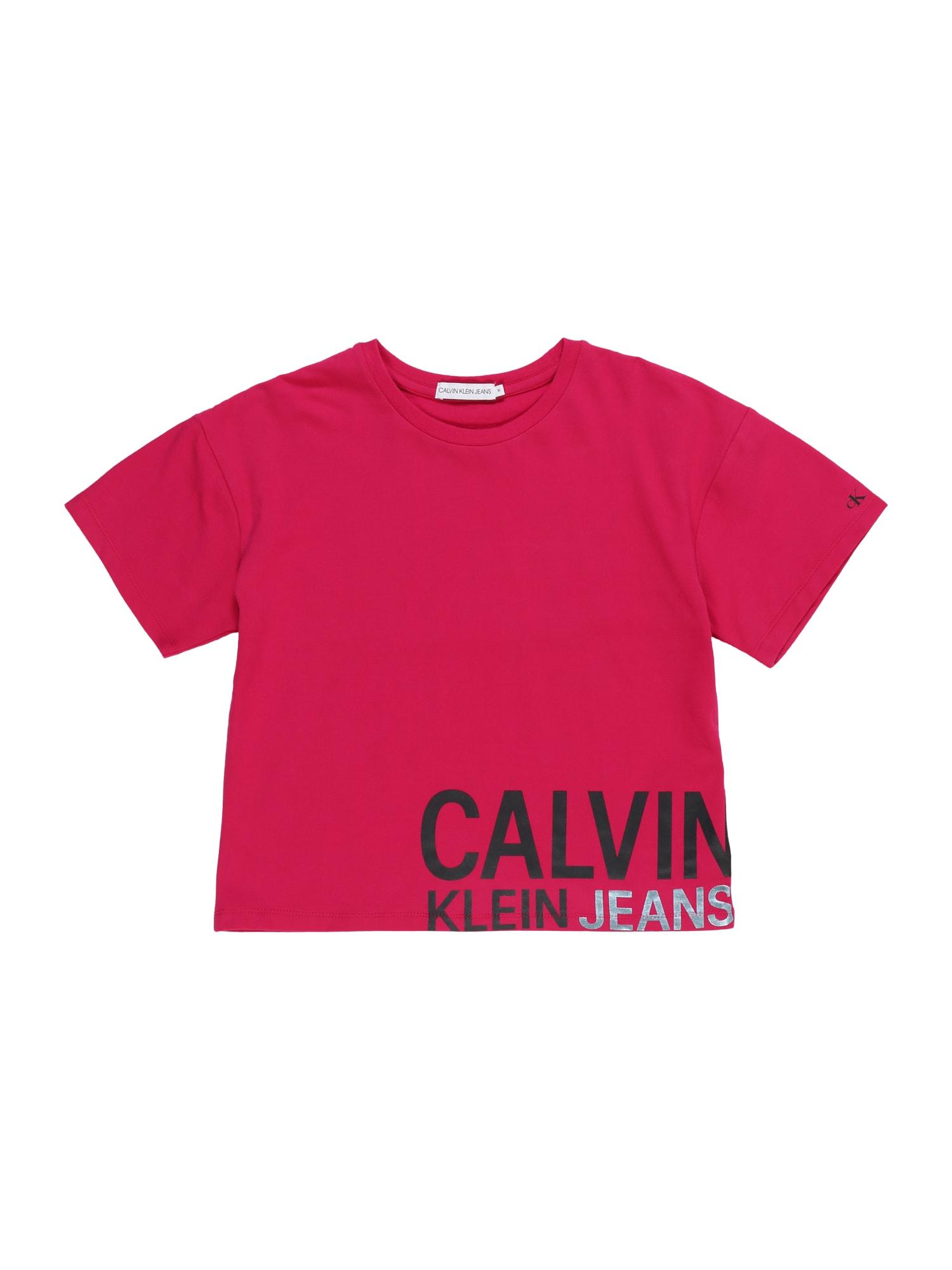 Calvin Klein Jeans Marškinėliai 'STAMP' rožinė