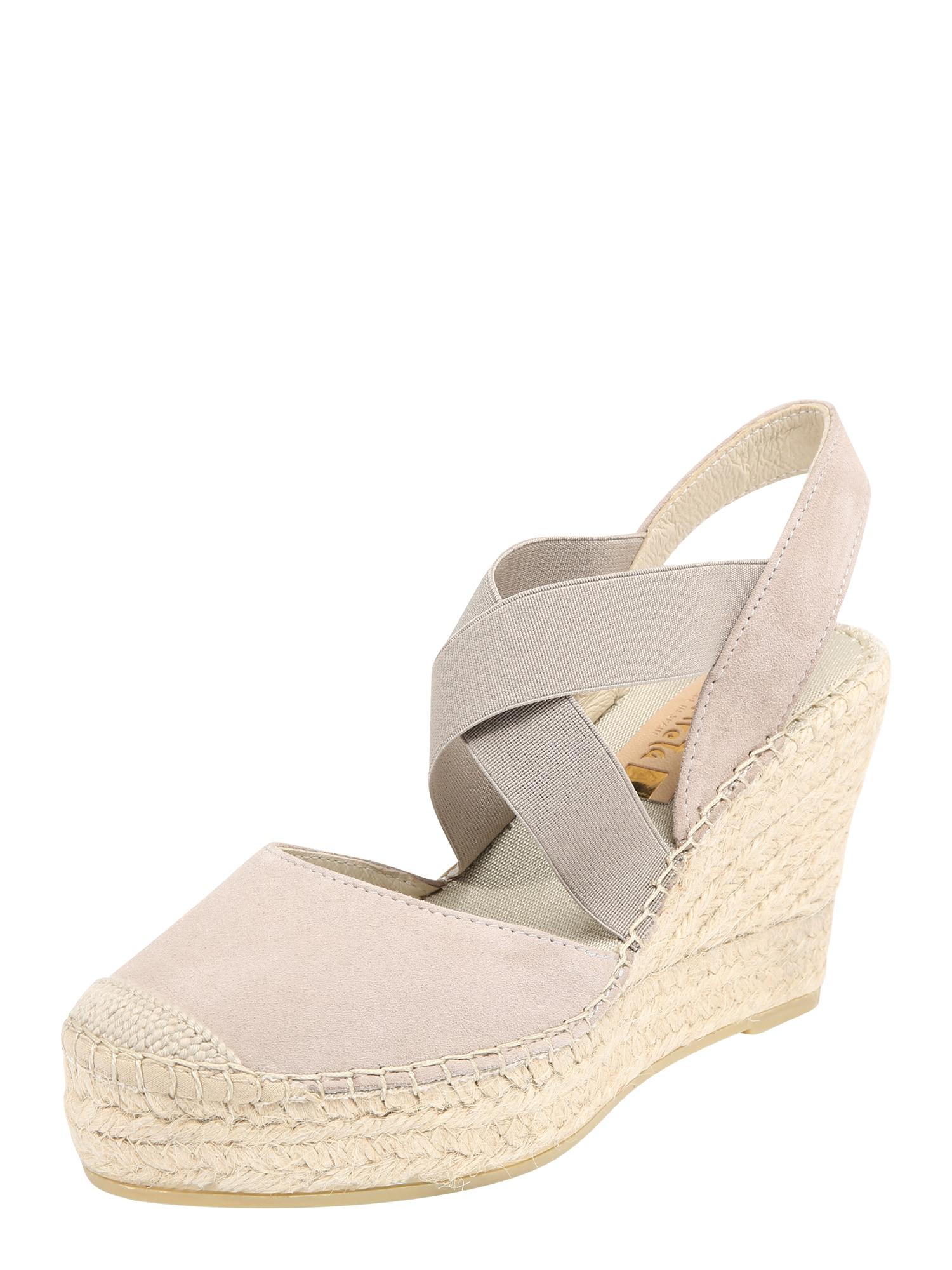 Páskové sandály světle šedá Vidorreta