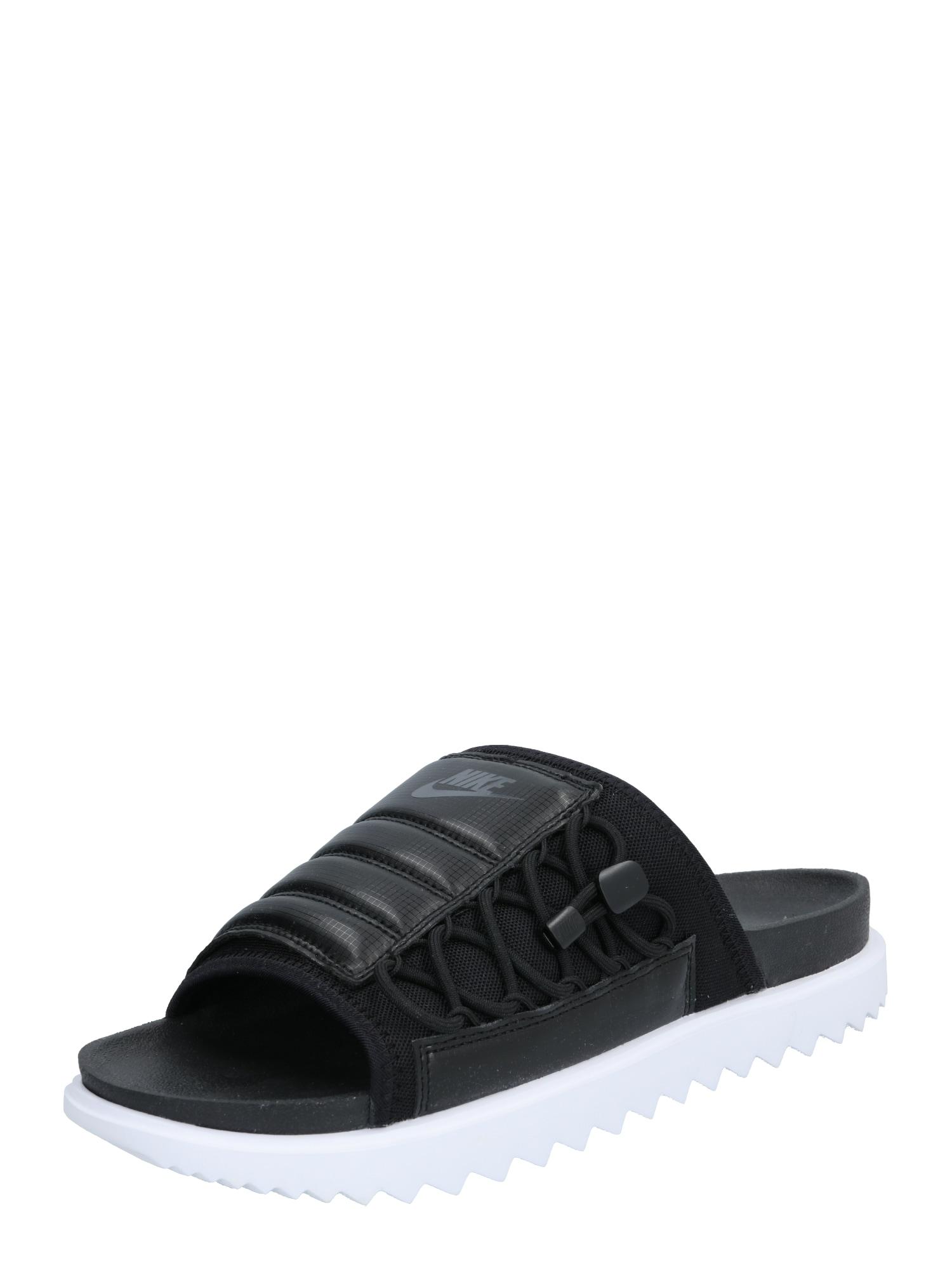 Nike Sportswear Šľapky  biela / čierna
