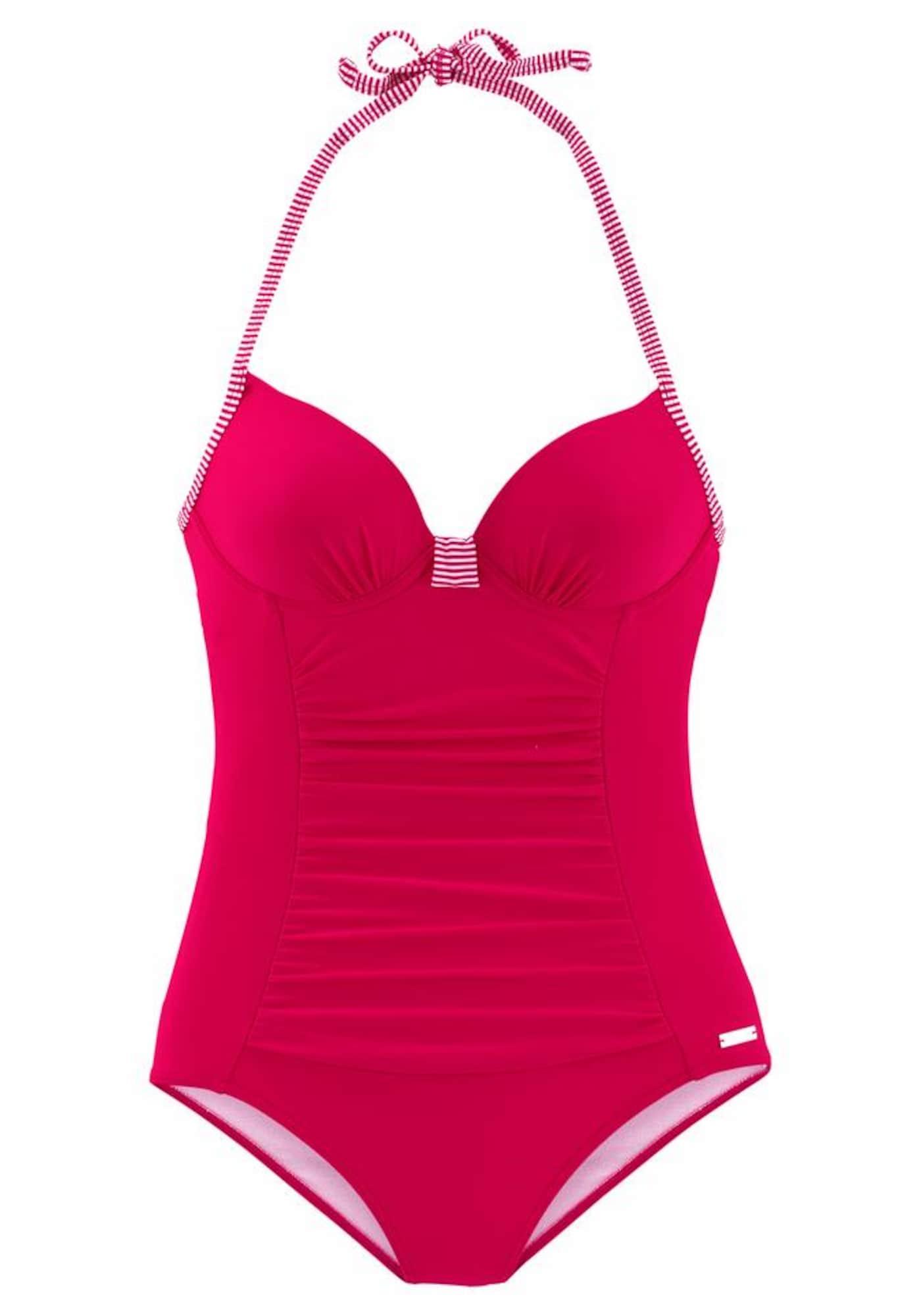 Stahovací plavky pink bílá LASCANA