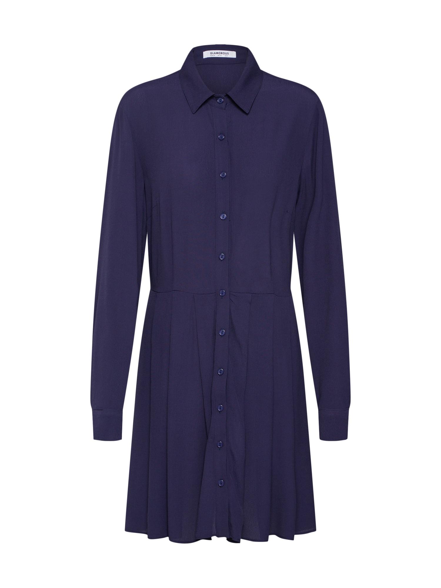 Košilové šaty námořnická modř GLAMOROUS