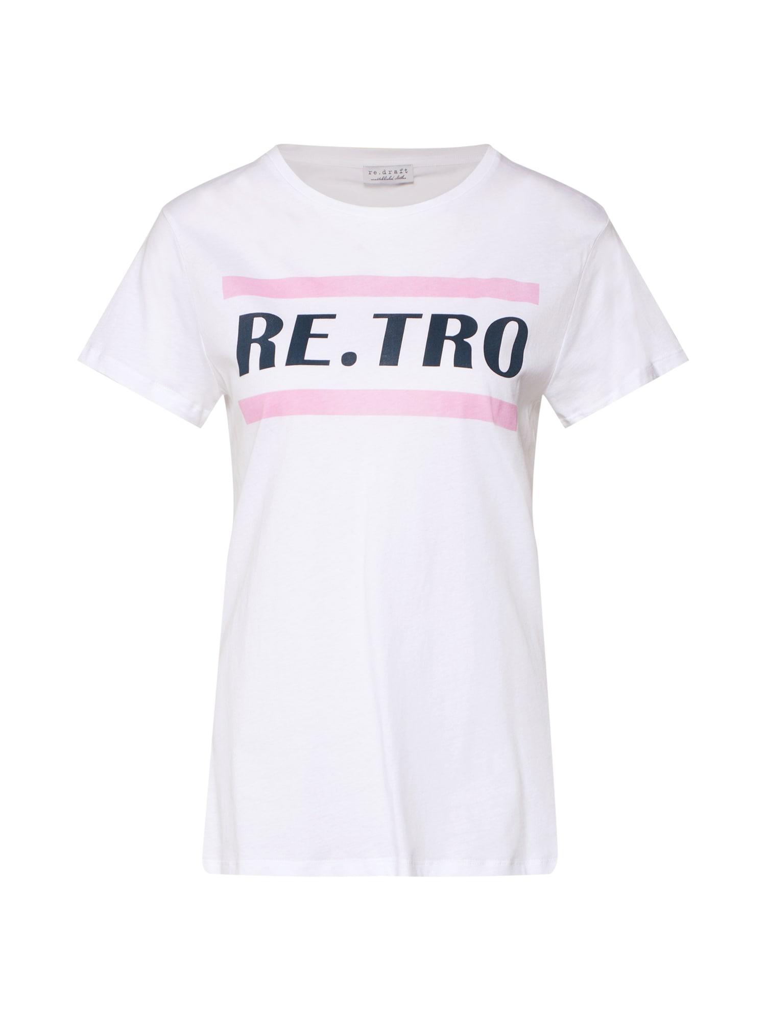 Tričko Retro pink bílá Re.draft