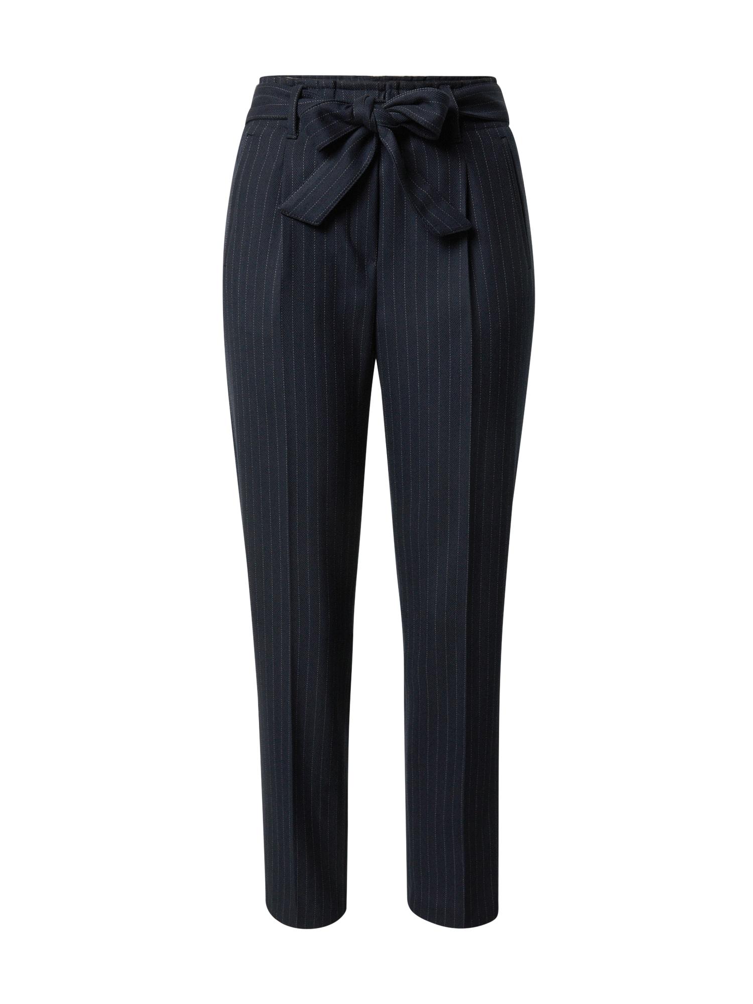 BRAX Klostuotos kelnės 'MILLA S' balta / tamsiai mėlyna