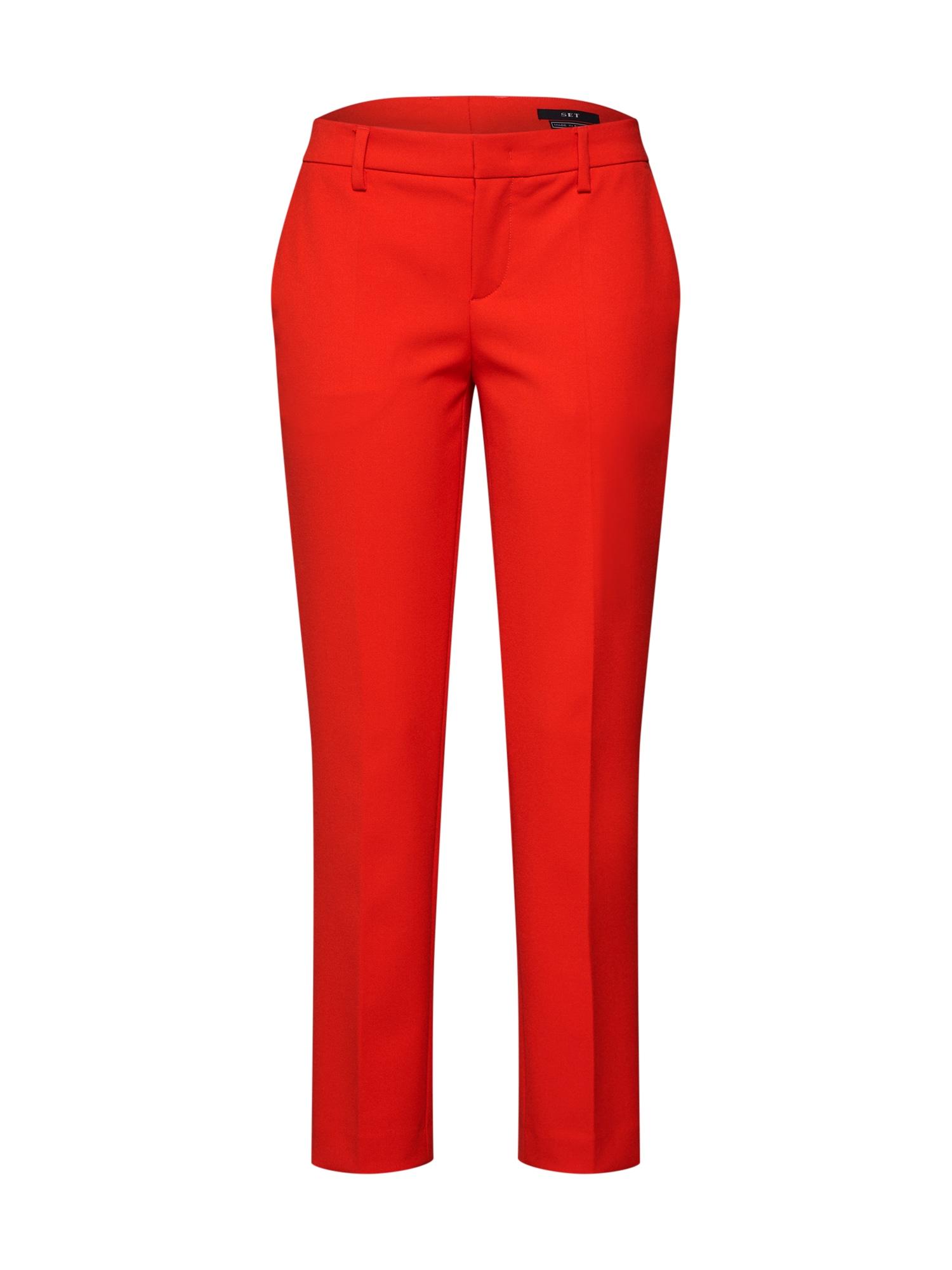 Kalhoty s puky červená SET