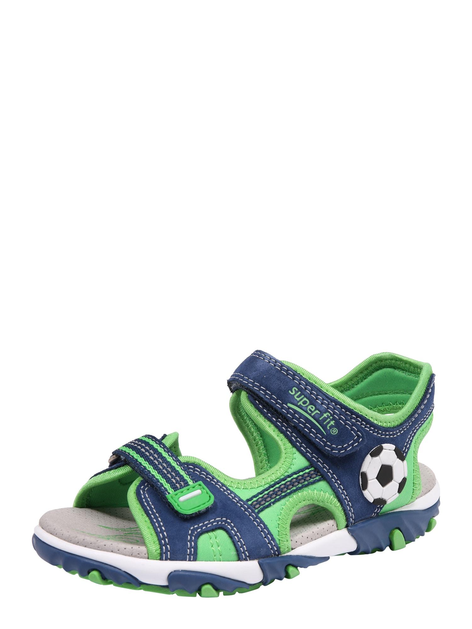 Otevřená obuv MIKE 2 modrá zelená SUPERFIT
