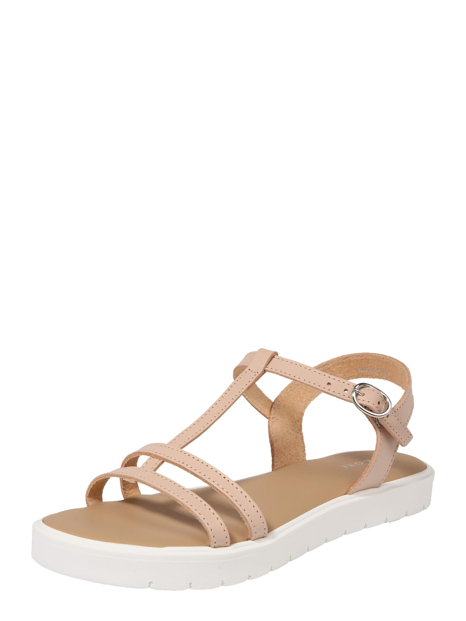 Páskové sandály iqzyy-jy pudrová bílá Pier One
