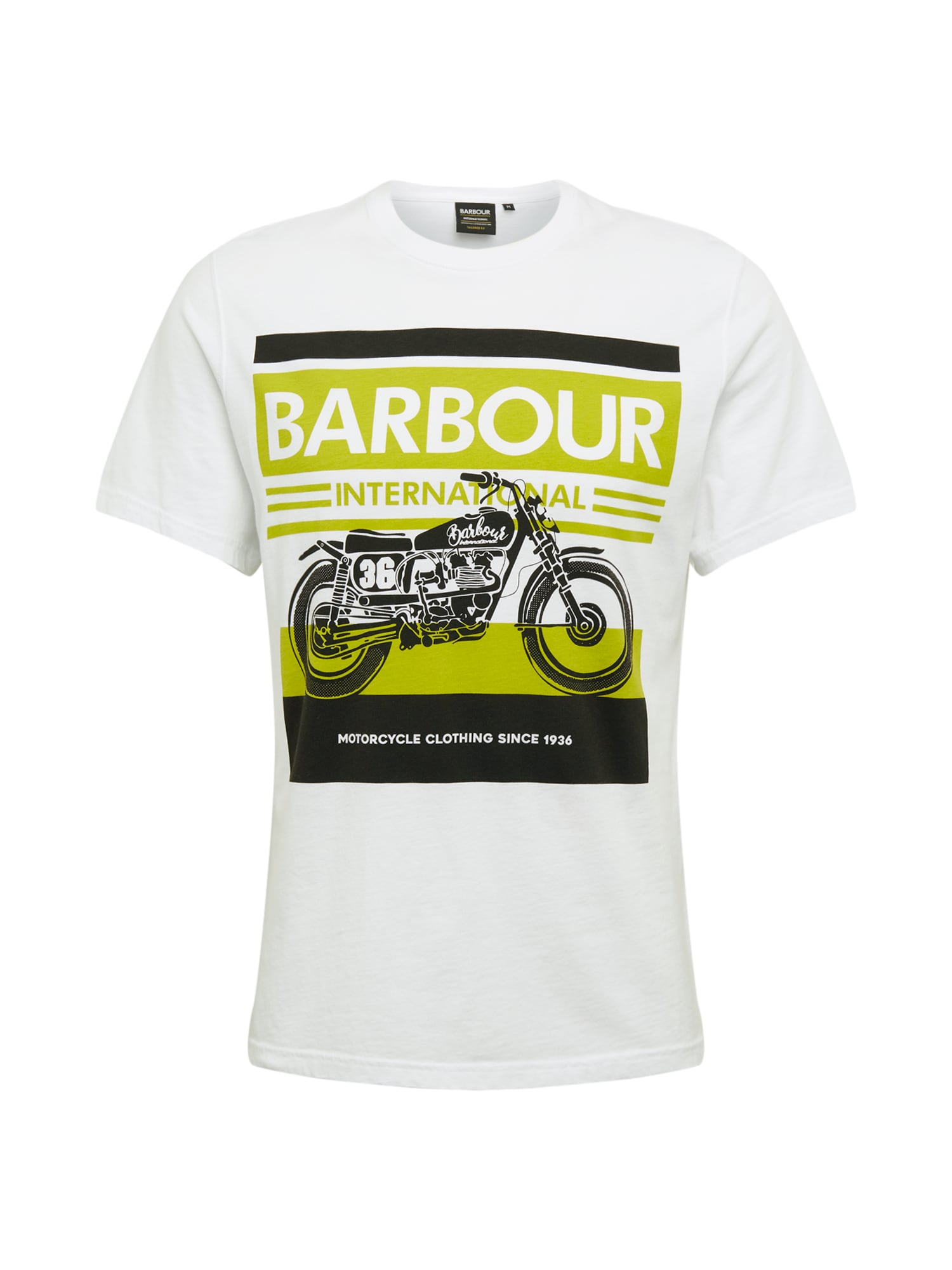 Barbour International Tričko 'B.Intl Burn Tee White'  biela