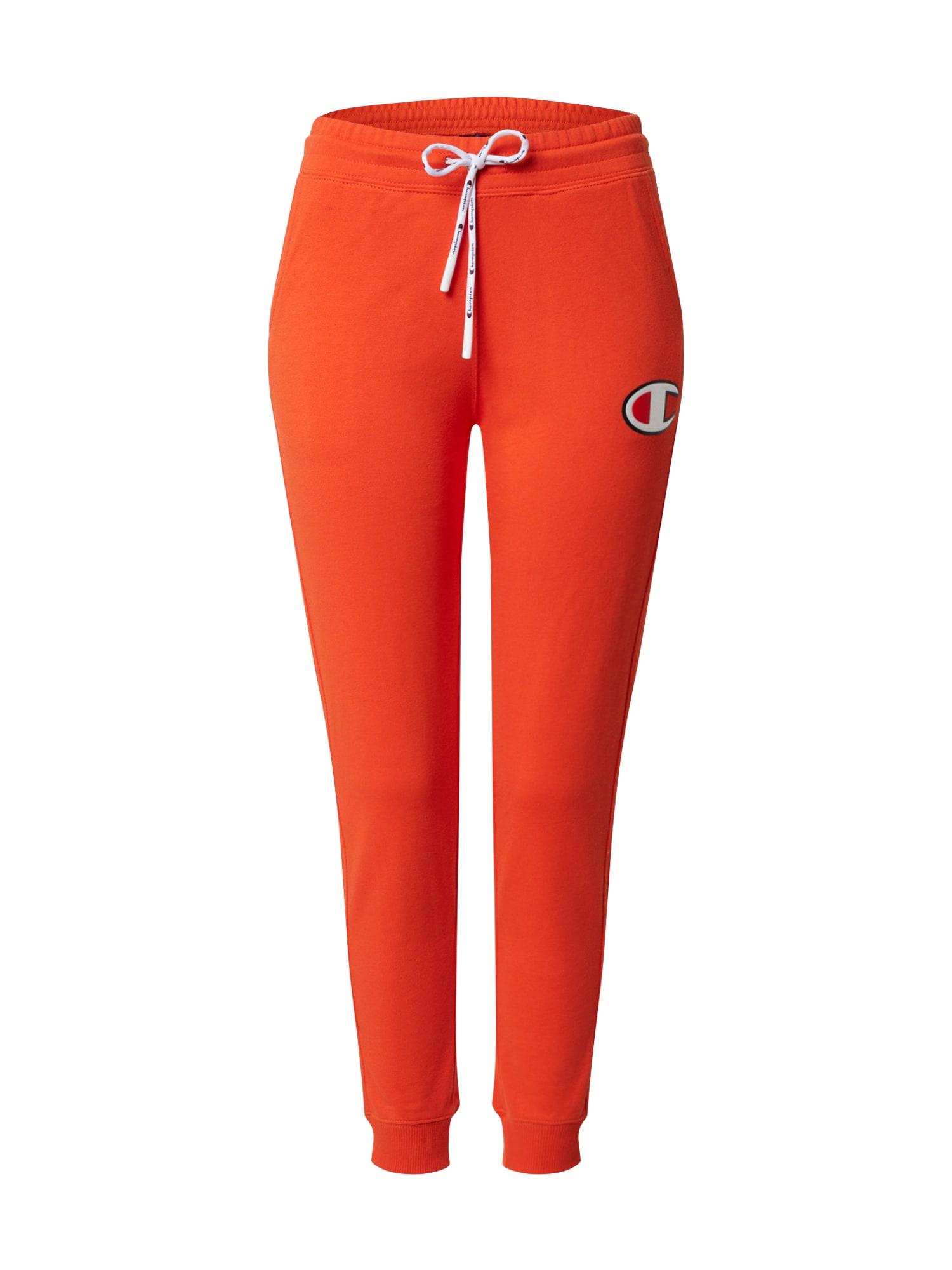 Champion Authentic Athletic Apparel Kelnės 'Rib Cuff Pants' raudona