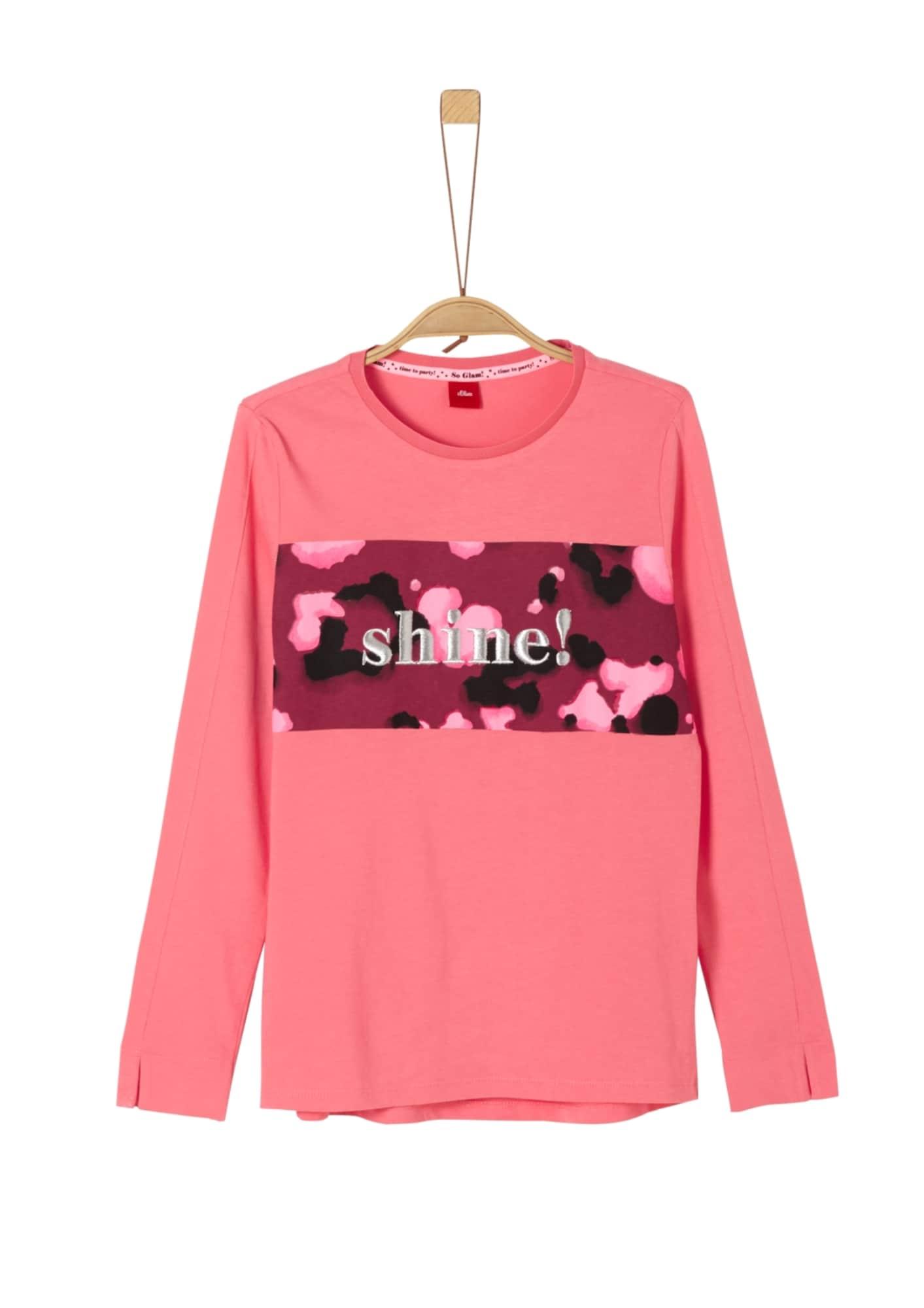 s.Oliver Junior Marškinėliai mišrios spalvos / rožių spalva