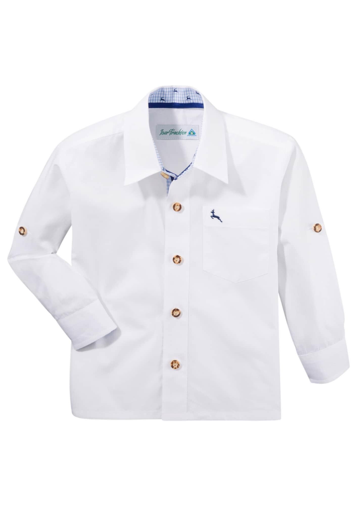 Jungen,  Kinder,  Kinder Isar-Trachten Trachtenhemd weiß | 04260537753053
