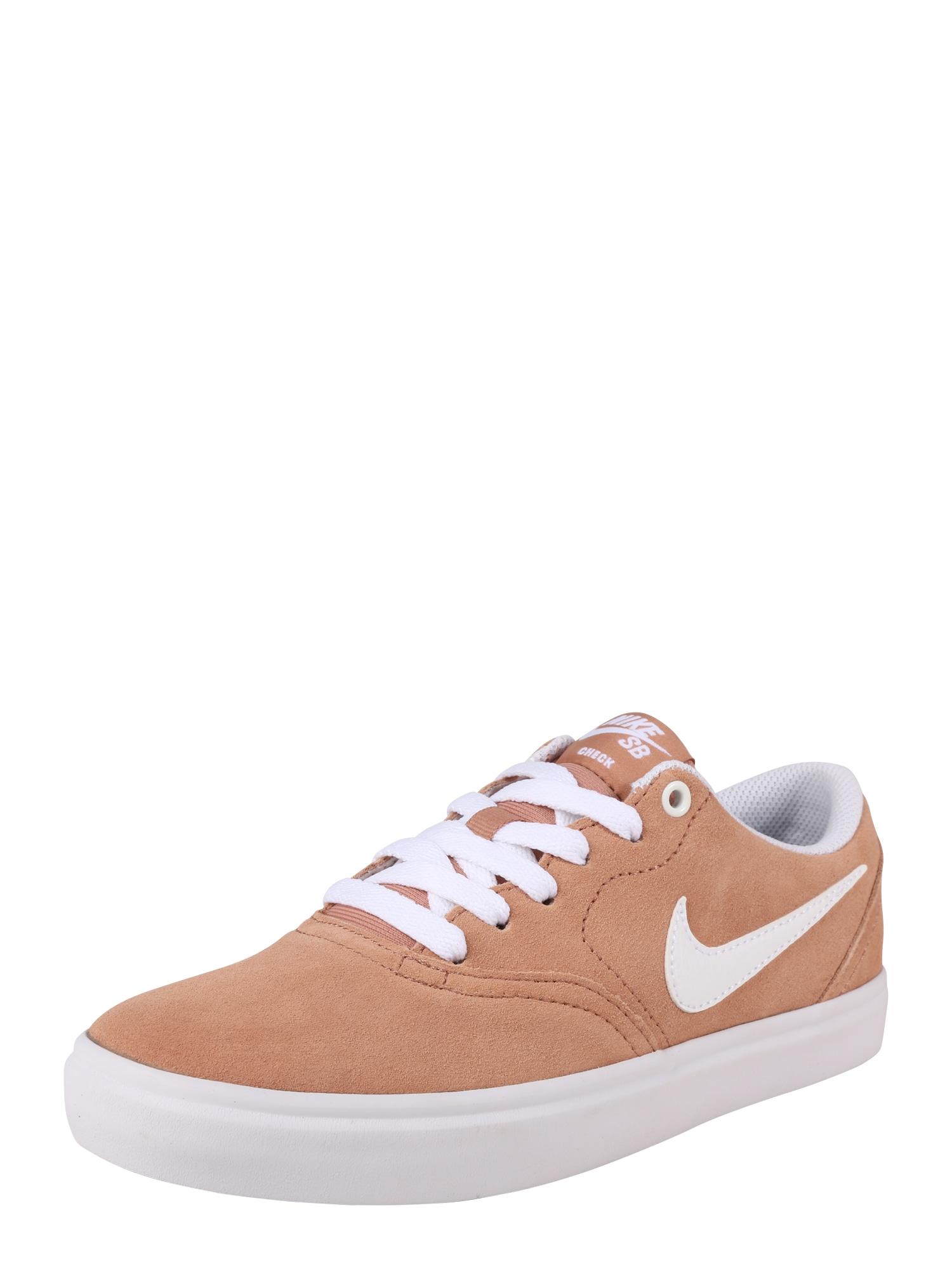 Tenisky CHECK SOLAR zlatá růže bílá Nike SB