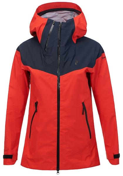 Jacken für Frauen - PEAK PERFORMANCE Outdoorjacke 'Mondo' dunkelblau cranberry  - Onlineshop ABOUT YOU