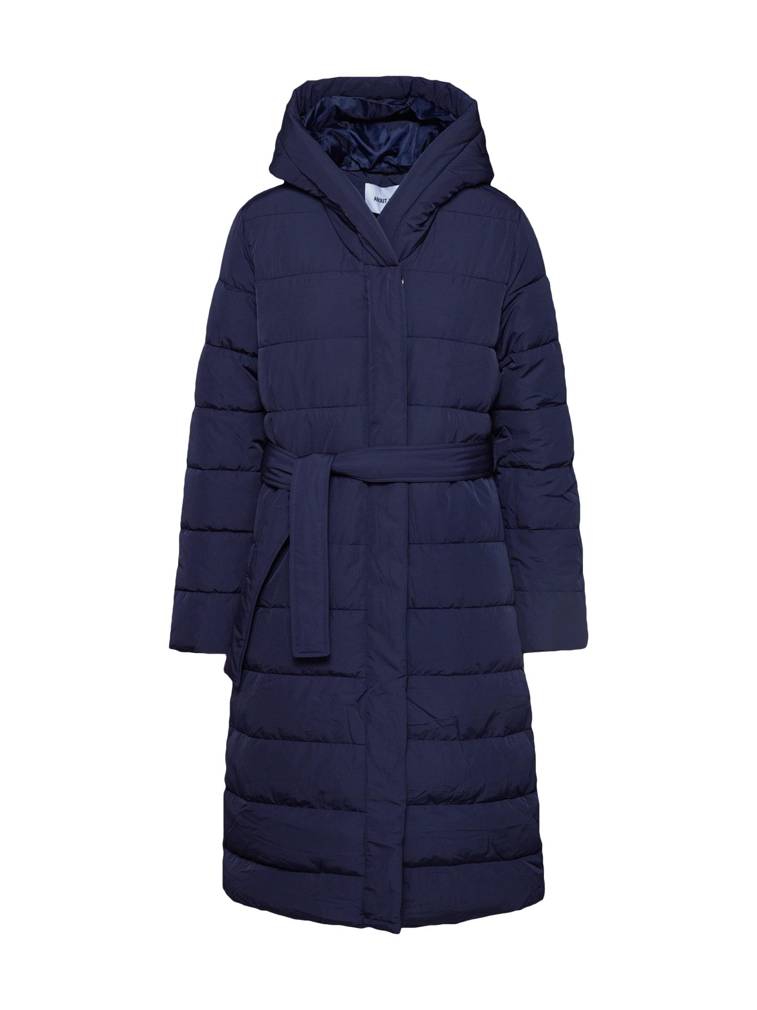 ABOUT YOU Žieminis paltas 'Chadia' tamsiai mėlyna