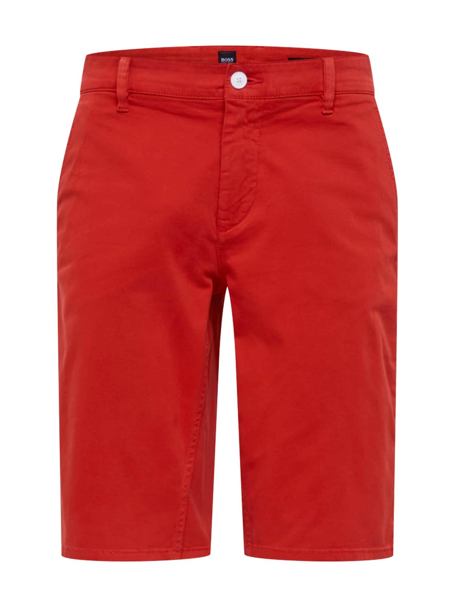 Chino kalhoty oranžově červená BOSS