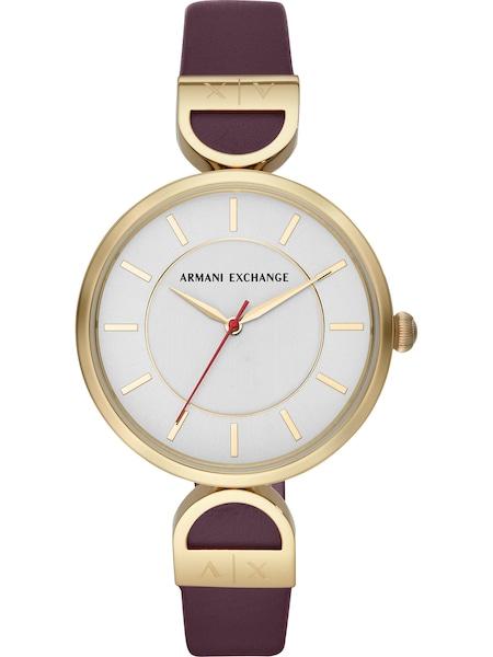 Uhren für Frauen - Emporio Armani Uhr 'AX5326' gold weinrot feuerrot weiß  - Onlineshop ABOUT YOU