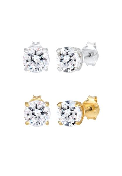 Ohrringe für Frauen - Ohrringe 'Kristall' › ELLI › gold silber  - Onlineshop ABOUT YOU