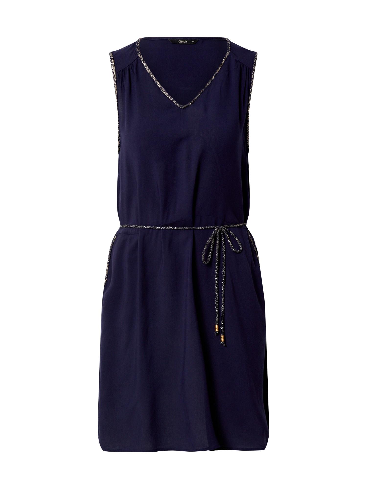 ONLY Letné šaty 'ONLLEANDRA S/L SHORT DRESS'  námornícka modrá