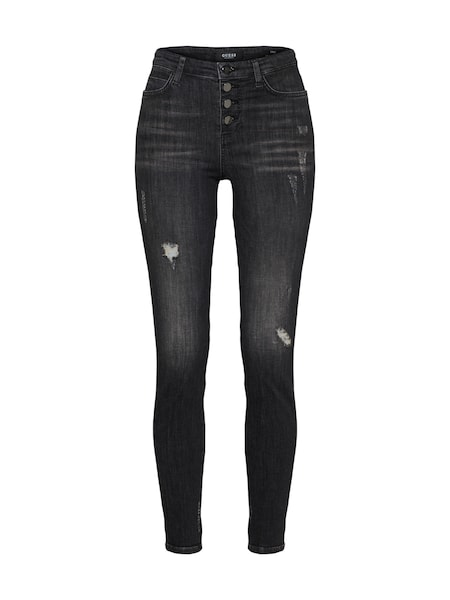 Hosen für Frauen - GUESS Jeans '1981 EXPOSED BUTTON' black denim  - Onlineshop ABOUT YOU