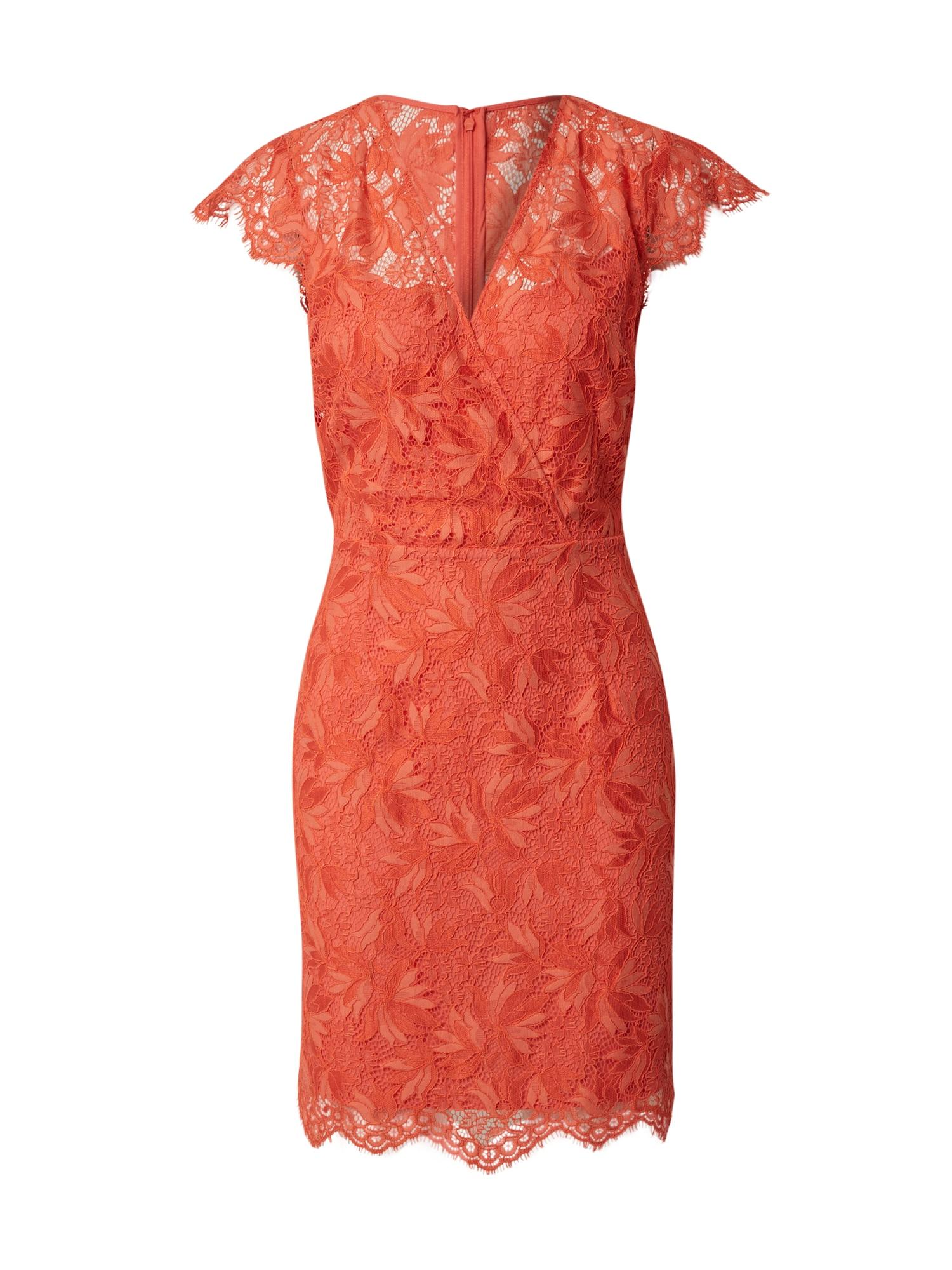 Morgan Trumpa kokteilinė suknelė 'Kleid' oranžinė-raudona