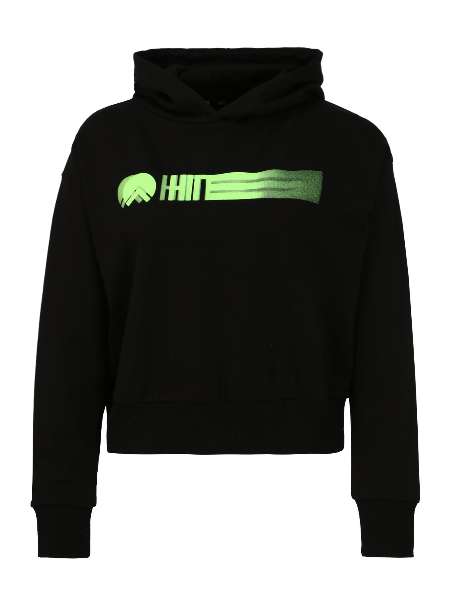 HIIT Sportinio tipo megztinis juoda / neoninė žalia