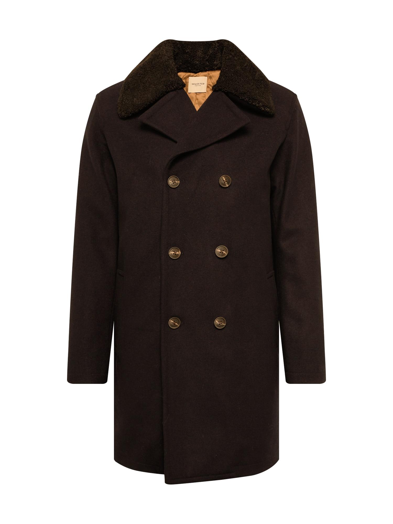SELECTED HOMME Žieminis paltas 'PEACOAT ' ruda